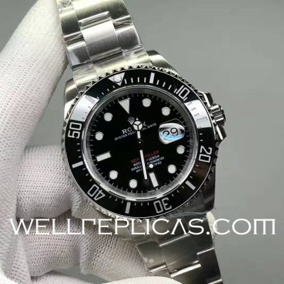 Swiss Rolex Sea-Dweller Man Automatic Mechanical Casual Watch Stainless Steel