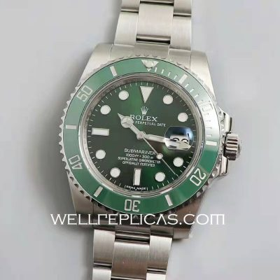 Rolex Green Dial Submariner 116610lv 40mm Case Mechanical Movement