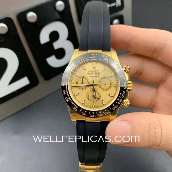 Mens Rolex Daytona 116500ln 40mm Case Mechanical (Automatic) Movement Gold Dial