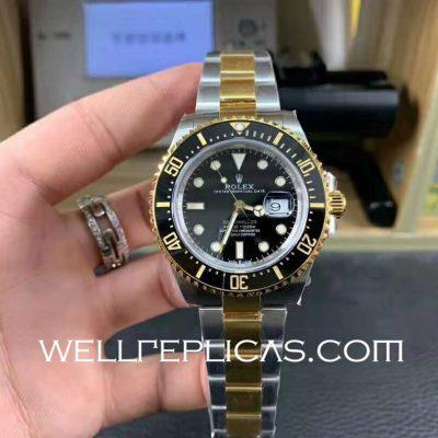 Rolex Sea-dweller Mens 43mm Case Black Dial Folding Buckle