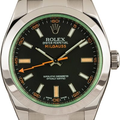 Aaa Replicarolex Milgauss Black 116400v