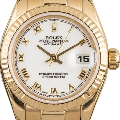 Cheap Rolex Watches Replica Lady Rolex President 179178 White Roman