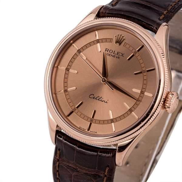 Replica Diamond Rolex Cellini 50505 Everose Gold