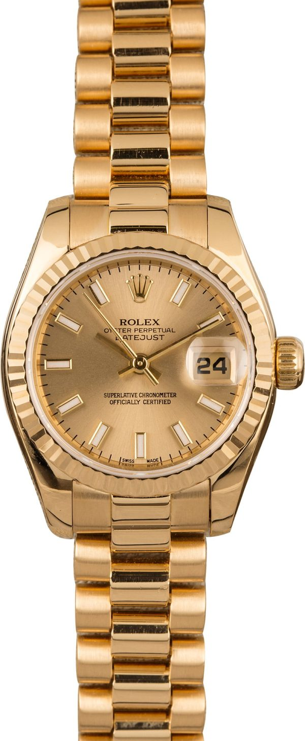 Who Sells The Best Replica Watches Rolex Ladies President 179138 Yellow Gold