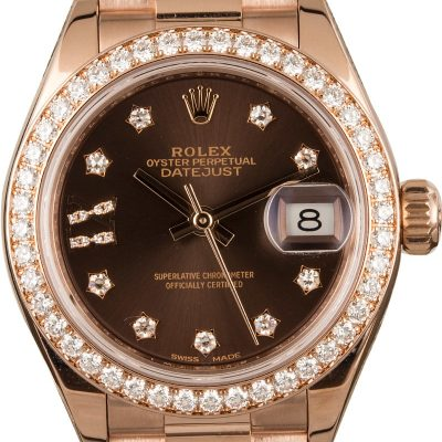 Fake Rolex Vs Real Rolex Ladies Diamond Datejust 279135 Rose Gold