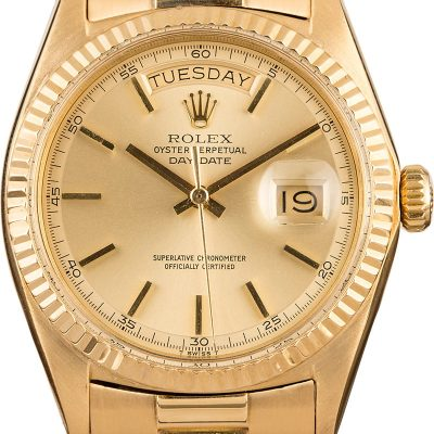 High Quality Replica Watches Rolex President 1803 'pie Pan' Champagne Dial
