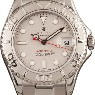 Fake Watchespreowned Rolex Yacht-master 168622 Luminous Platinum Dial