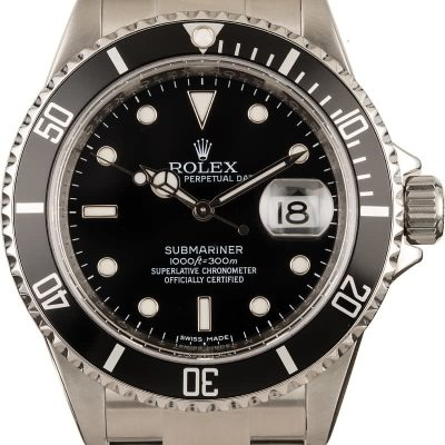 Watch Replicarolex Submariner Watch 16610 Bob's Watches