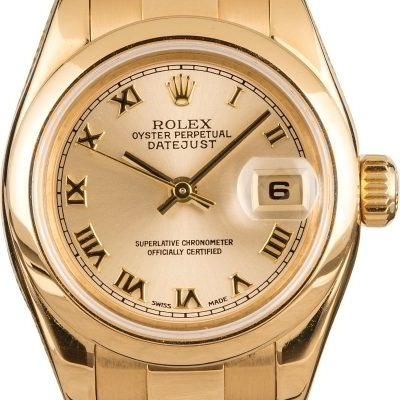 Top 10 Replica Watch Sites Rolex Gold Ladies Datejust 179168