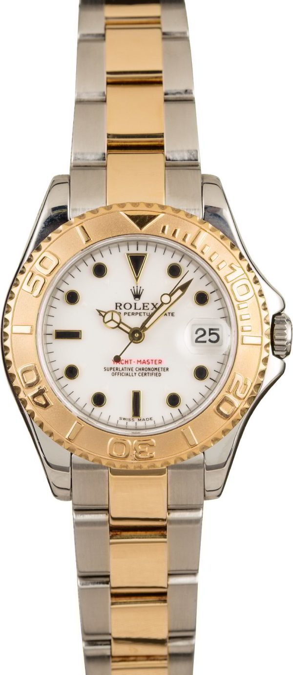 Watch Replicasrolex Yacht-master 168623 Two Tone White Dial