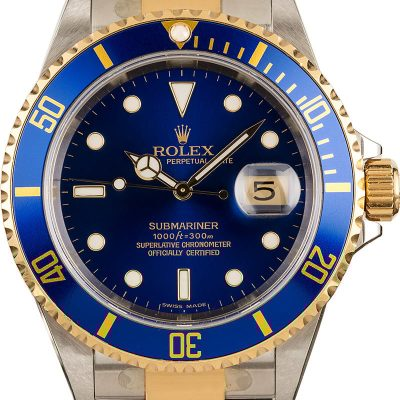 Rolex Oyster Perpetual Datejust Fakerolex Blue Submariner 16613