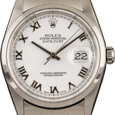 Replica Watches Reddit Rolex Datejust 16200 White Roman Dial