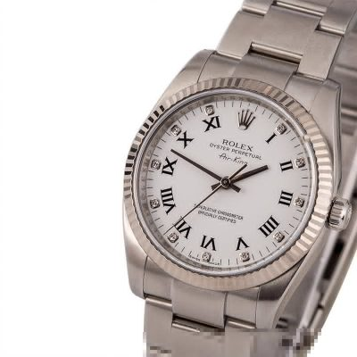 Fake Watch Rolex Air-king 114234 White Diamond Dial