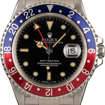 Real Vs Fake Rolex 40mm Rolex Gmt-master 16700 Pepsi Bezel