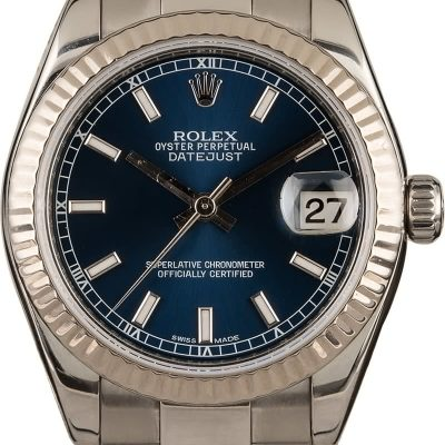 Luxury Replica Watches Rolex 31mm Datejust 178274 Blue Dial