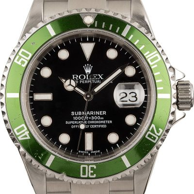 Replica Watchesrolex Oyster Steel Submariner Kermit 16610