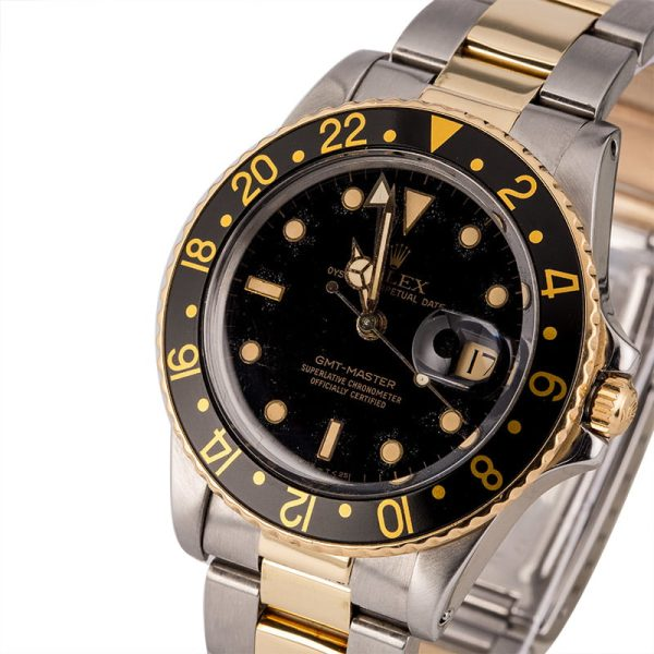 Men Automatic Fake Rolex Gmt-master 16753 Stainless Steel