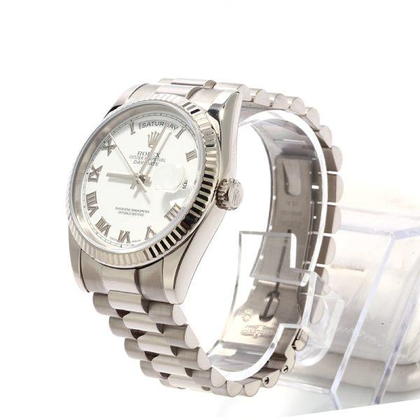 Men Fake Rolex President 118239 White Gold Automatic 3155 Movement