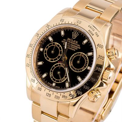Men Replica Swiss Made Rolex Daytona Black Dial Automatic 4130