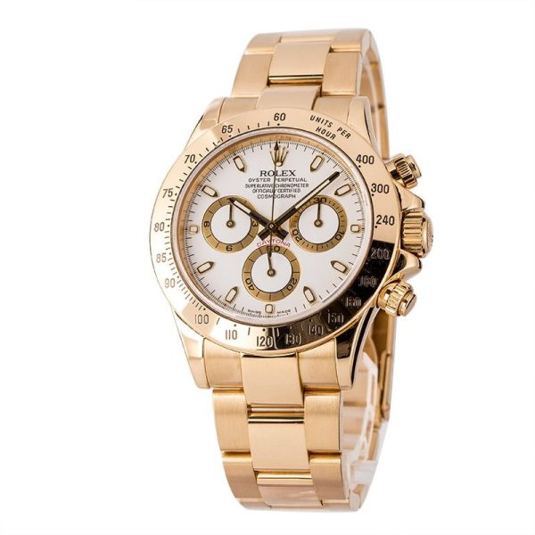 18k Yellow Gold Men Replica Rolex Daytona 116528 Automatic 4130