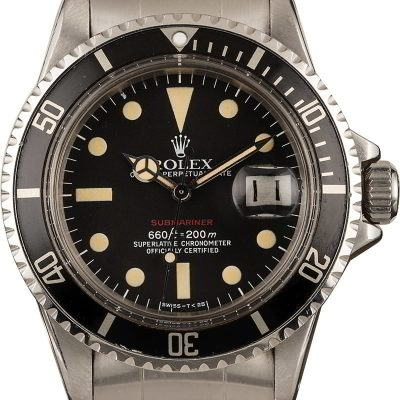 Dial Matte Black Red Men Replica Rolex Submariner 1680 Automatic 1570