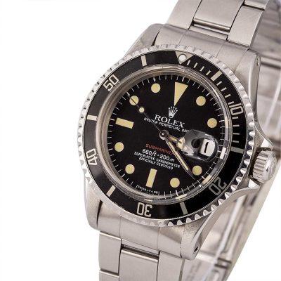 Dial Matte Black Red Men Replica Rolex Submariner 1680 Automatic 1570