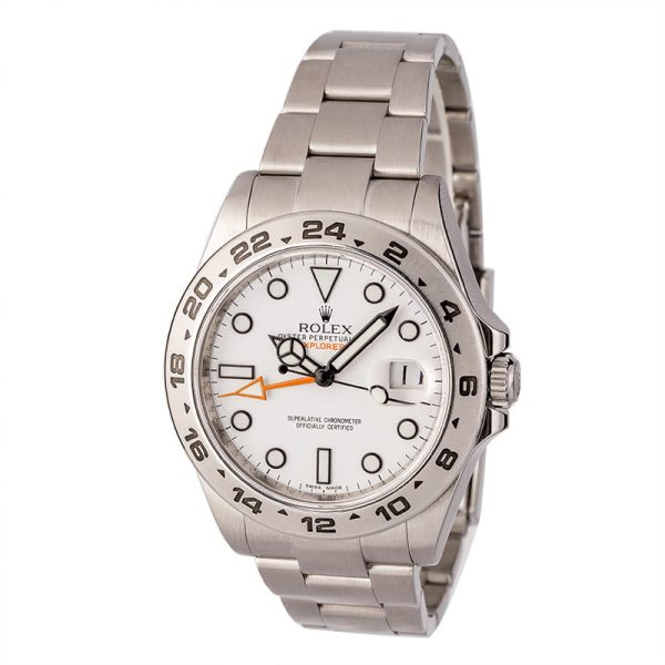 Automatic 3187 Dial White Fake Rolex Explorer Ii 216570 Stainless Steel Oyster