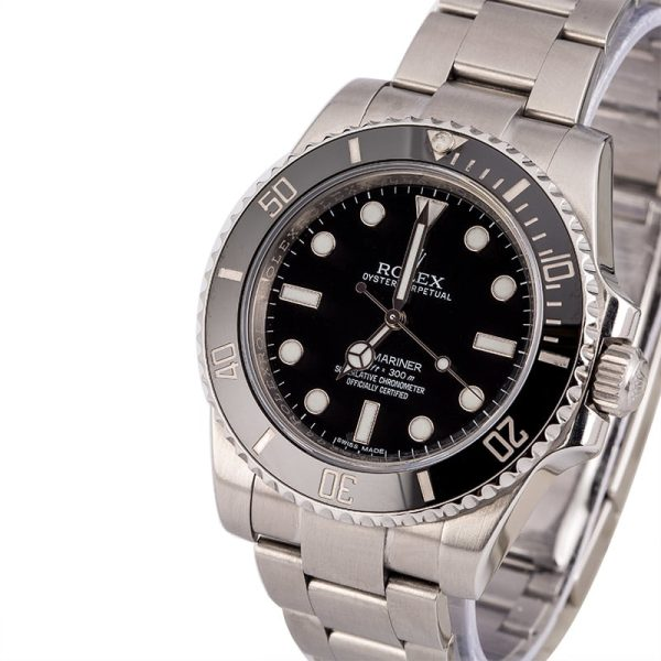 Automatic 3130 Men Replica Rolex Submariner 114060 Dial Black