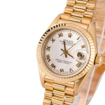 Automatic 2235 Replica Rolex Ladies President 79178 Case 26mm 18k Yellow Gold