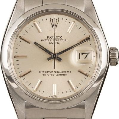 Men Automatic 1570 Case 34mm Fake Rolex Date 1500 Stainless Steel