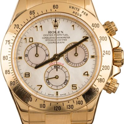 Men Yellow Gold Replica Rolex Daytona 116528 Case 40mm Automatic 4130