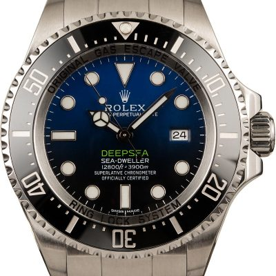 Men Replica Rolex Deep Sea 116660b Dial Black To Blue Gradient Automatic 3135