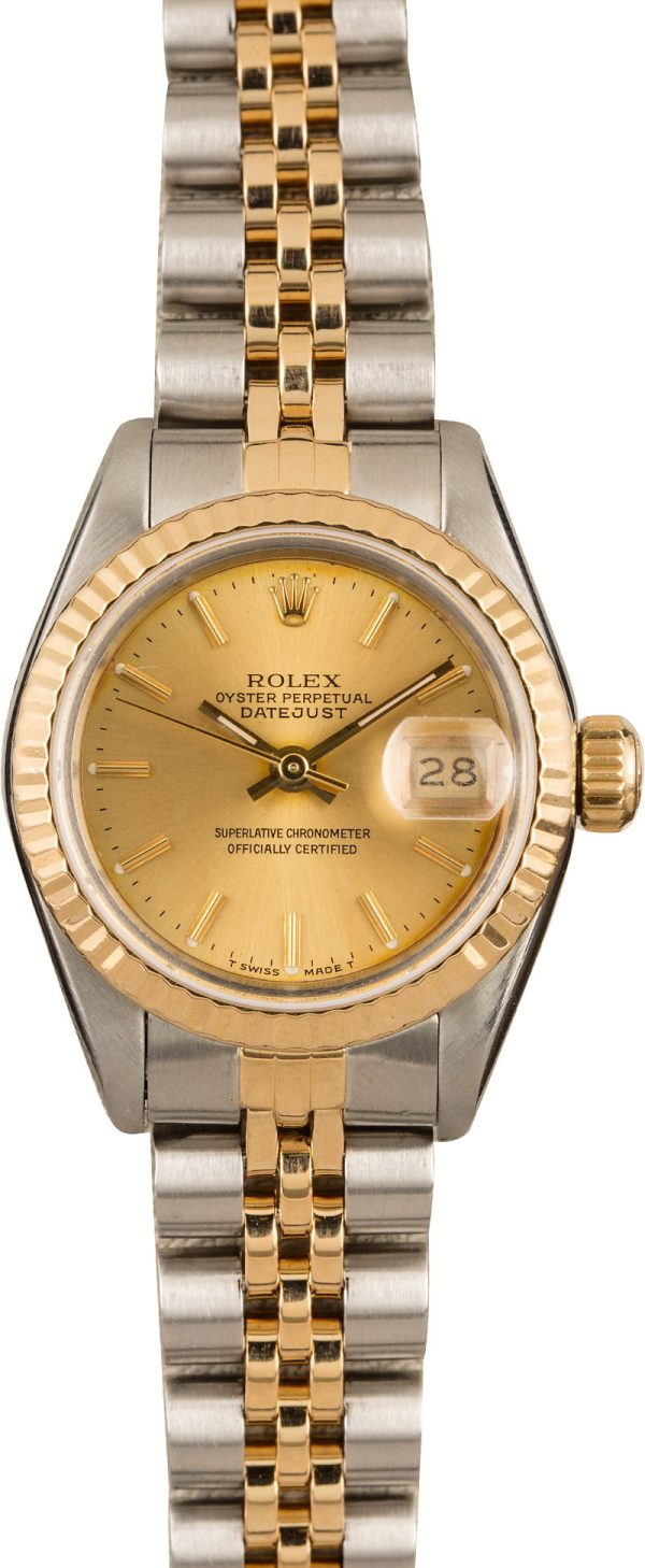 Dial Champagne Replica Ladies Rolex Datejust 69173 Case 26mm Automatic 2135