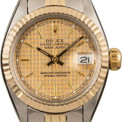 Dial Houndstooth Replica Rolex Ladies Datejust 6917 Case 24mm Automatic 2030