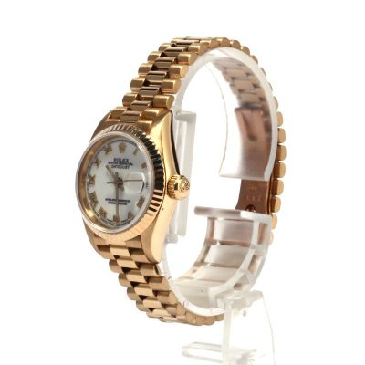 Case 26mm Ladies Replica Rolex Datejust 69178 18k Yellow Gold President