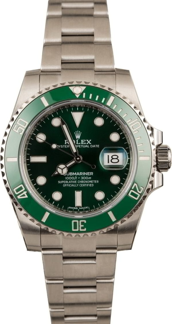 Men Dial Green Replica Rolex Submariner 116610lv Case 40mm Stainless Steel