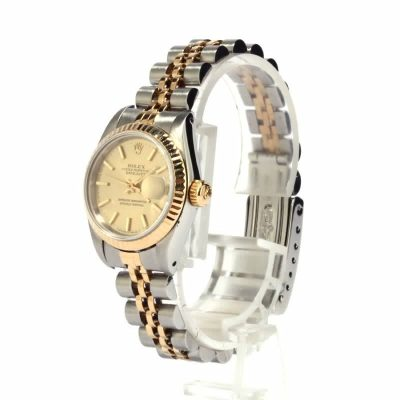 Automatic 2135 Ladies Replica Rolex Datejust 69173 Dial Champagne Stainless Steel