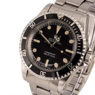 Men Fake Rolex Submariner 5513 Dial Dark Black Automatic 1520