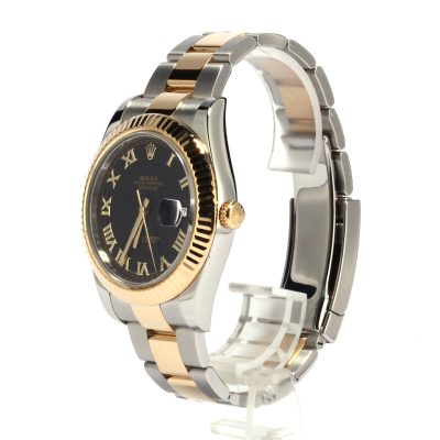 Automatic 3136 Replica Rolex Datejust Ii Ref 116333 Dial Black Stainless Steel
