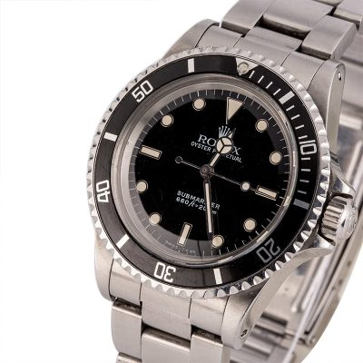 Men Dial Black Replica Vintage Rolex Submariner 5513 Automatic 1520