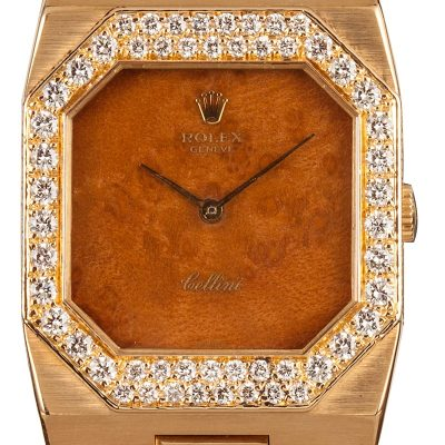 18k Yellow Gold Uni-sex Fake Rolex Cellini 4651 Mechanical 1601