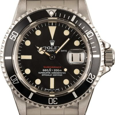 Rolex Red Submariner 1680 Automatic 1570 Men's watch