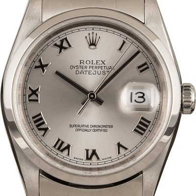 Replica Rolex Datejust 16200 Men Dial Silver Stainless Steel Watch