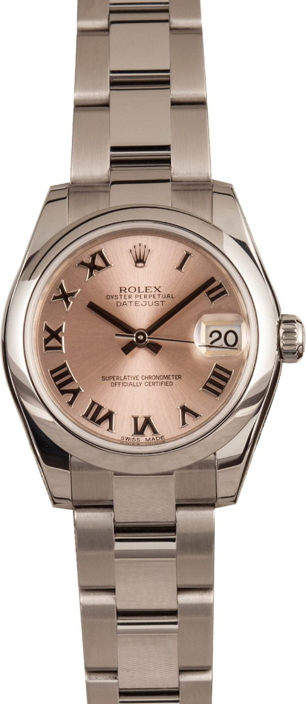 Rolex Datejust 178240 Fake Mid-size 31mm Dial Pink Roman Stainless Steel