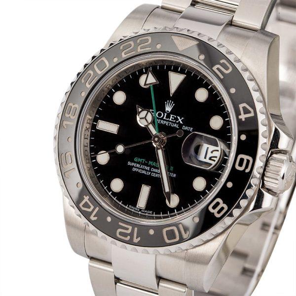 Rolex Gmt-master Ii 116710 Men's Replica Dial Black Stainless Steel
