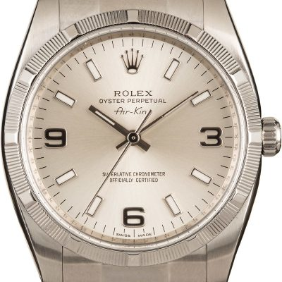 Rolex Air King 114210 Replica Men's Case 34mm Automatic 3130