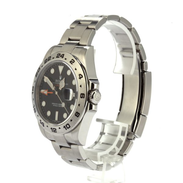 Rolex Explorer Ii 216570 Replica Men's Dial Black 904l Stainless Steel
