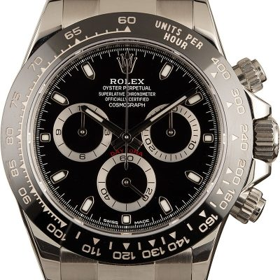Rolex Ceramic Daytona Fake Men's Case 40mm Stainless Steel
