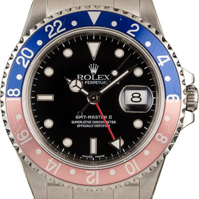 Rolex Gmt Master Ii 16710 Men's Fake Dial Black Stainless Steel