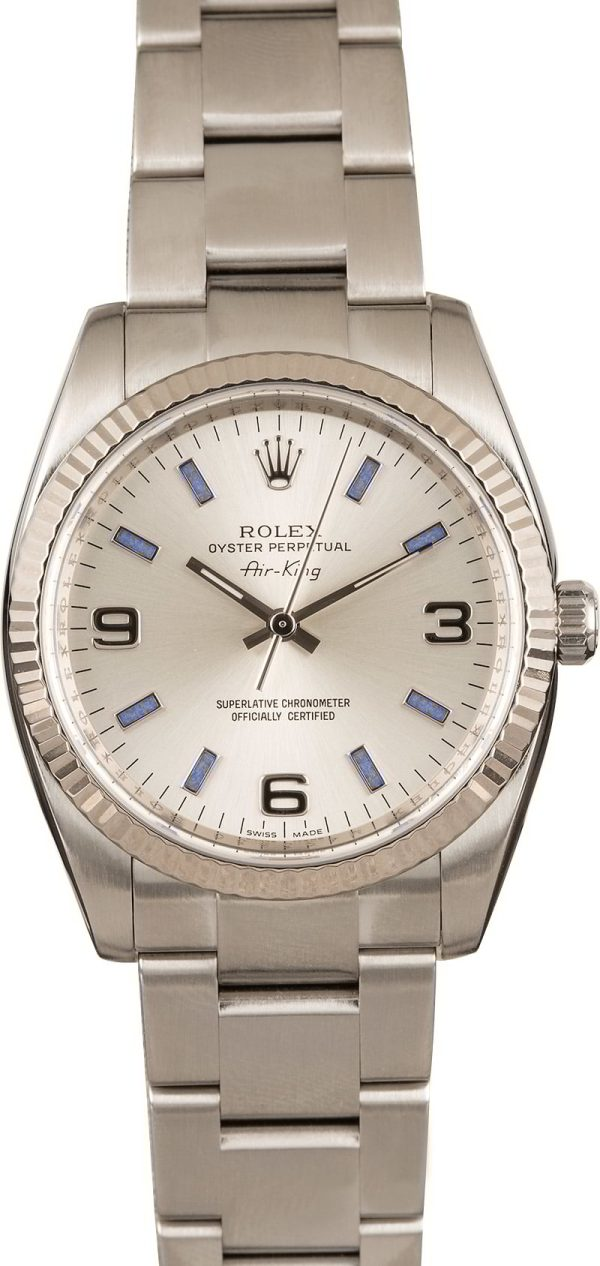 Rolex Air-king 114234 Men's Replica Dial Silver Stainless Steel Oyster